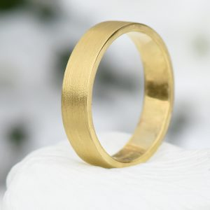 5mm flat profile wedding ring