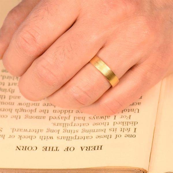 5mm flat profile wedding ring