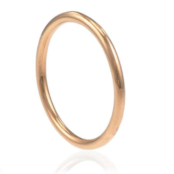 rose gold slim wedding ring