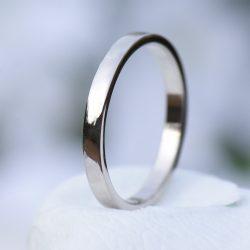 2mm flat wedding ring