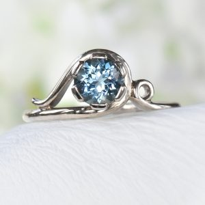 aquamarine art nouveau ring