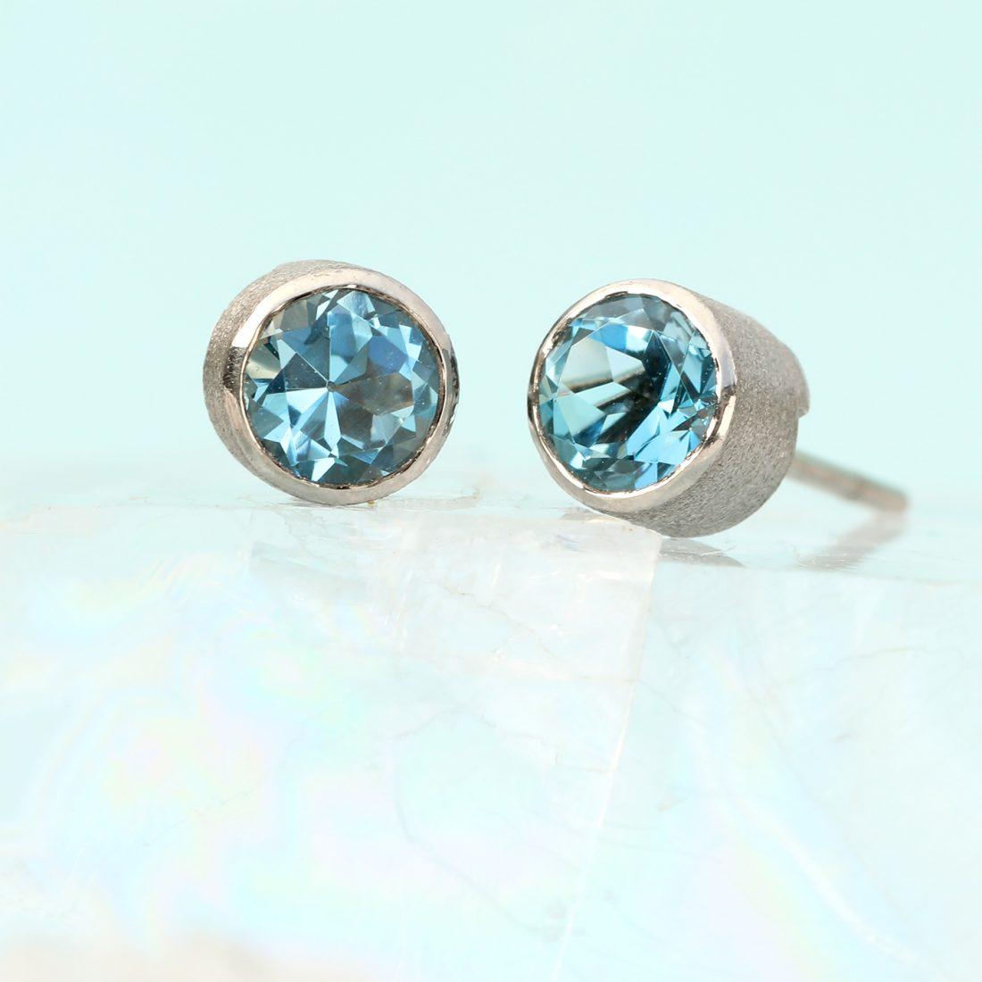 aquamarine studs