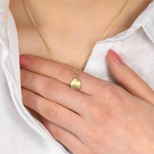 petal pendant in gold