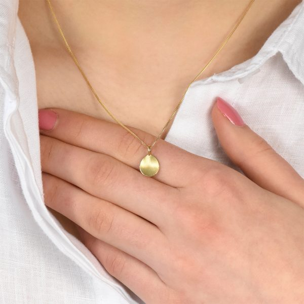 petal pendant in gold
