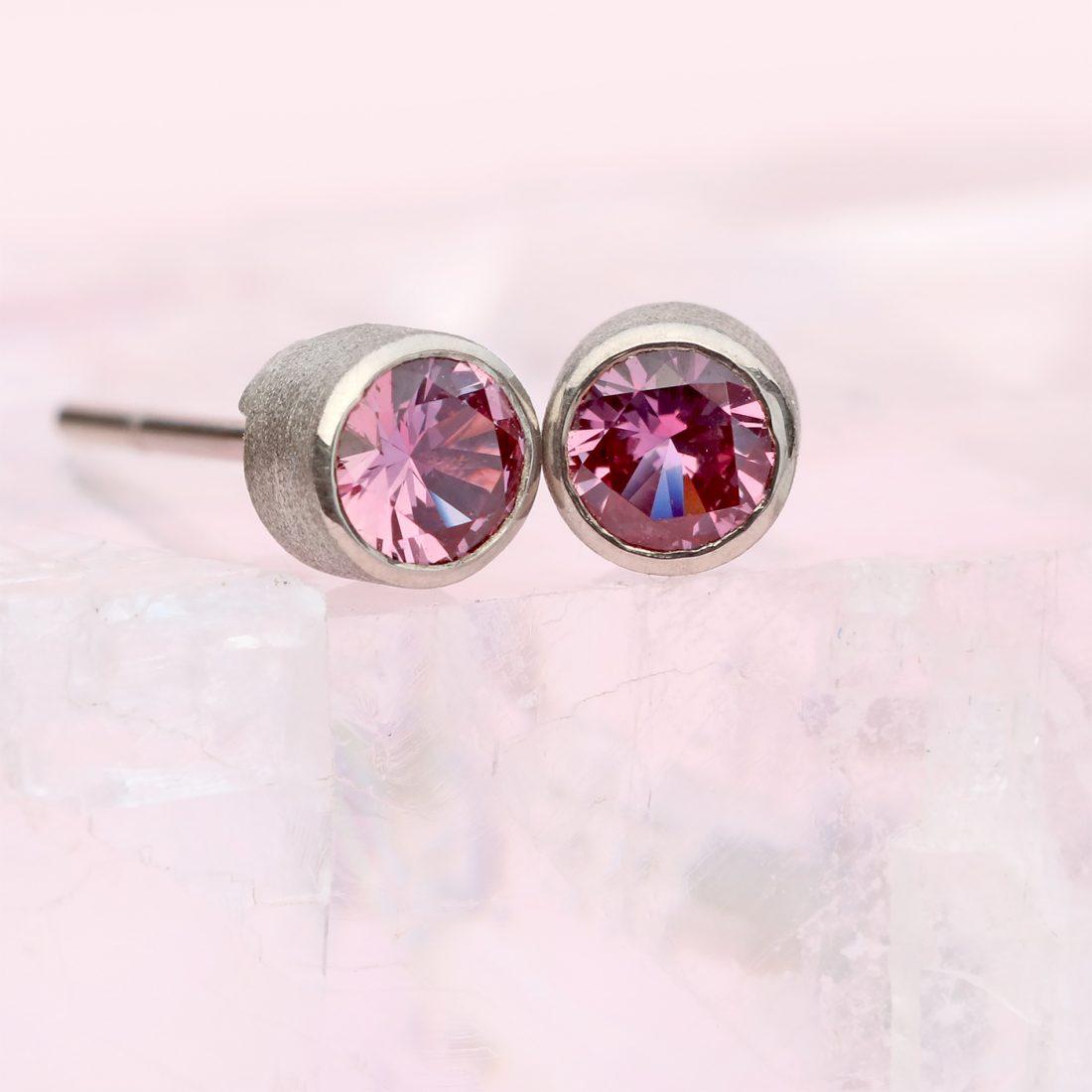 purple sapphire studs