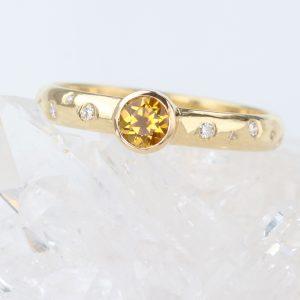 yellow sapphire diamond engagement ring