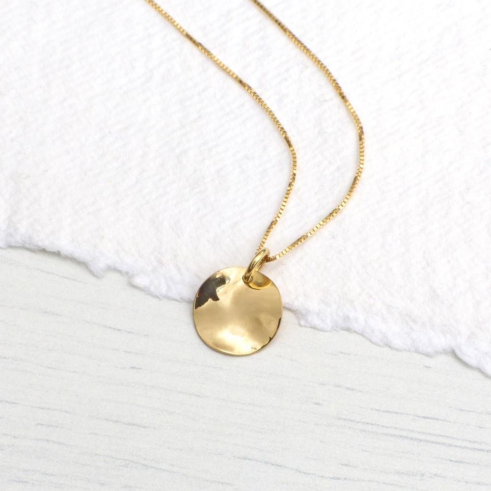 gold disc pendant
