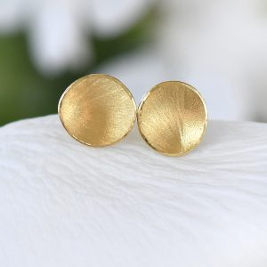 petal studs in 18ct gold
