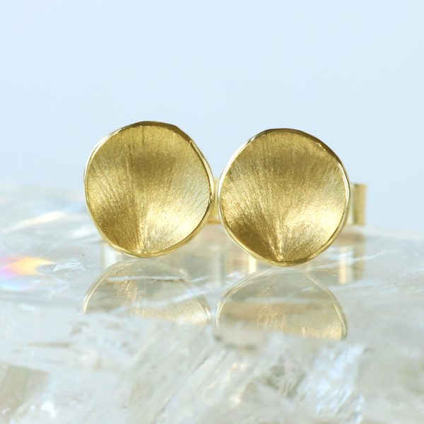 18ct Petals Stud Earrings