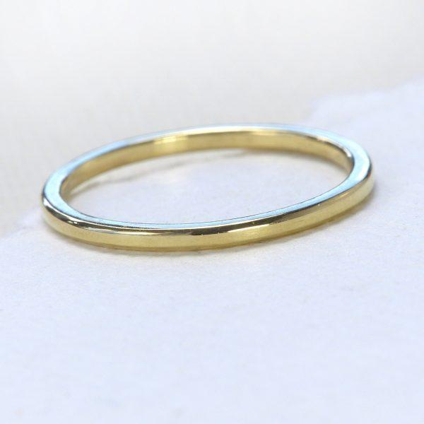 plain stacking ring