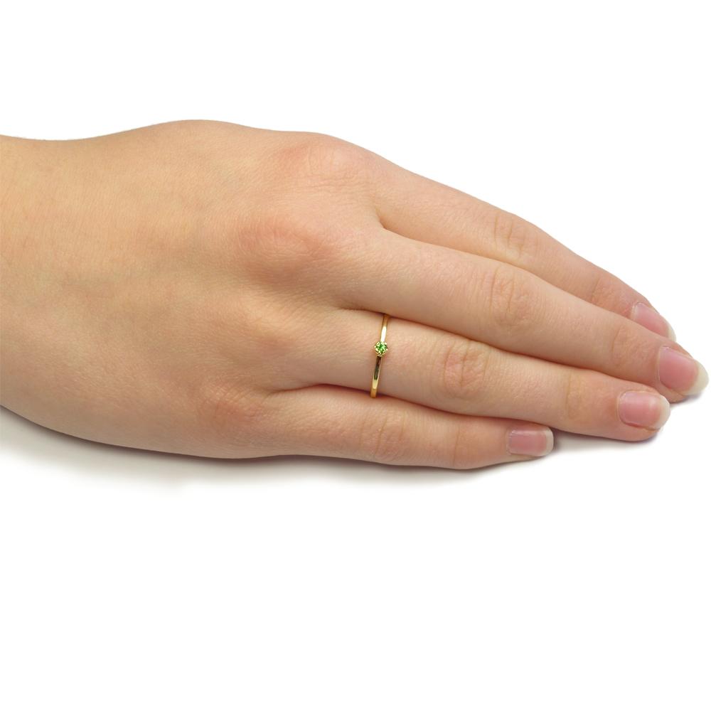 tsavorite stacking ring