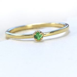 tsavorite stacking ring