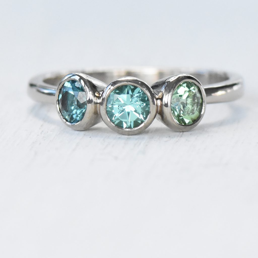 tourmaline trilogy ring