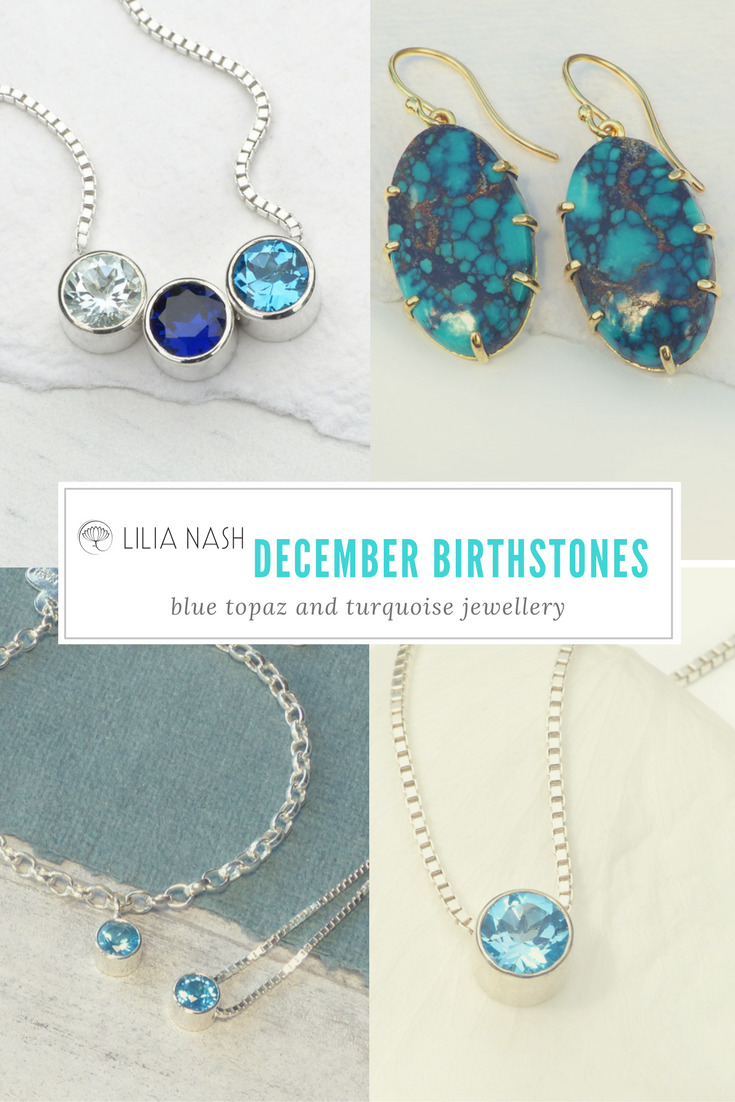 December Birthstone Blue Topaz And Turquoise Jewellery