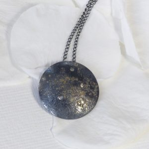 stardust diamond disc pendant