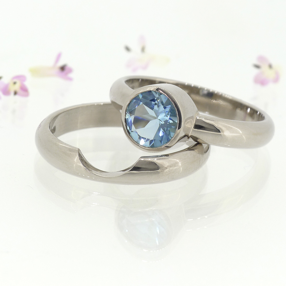 Lilia Nash Aquamarine Engagement Ring