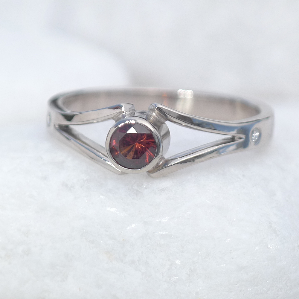 Lilia Nash Garnet Engagement Ring