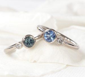 Lilia Nash matching sapphire rings