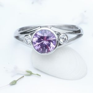 Lilia Nash Bespoke Purple Sapphire Sharon Engagement RIng