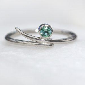 Lilia Nash Bespoke Seafoam Enagement Ring