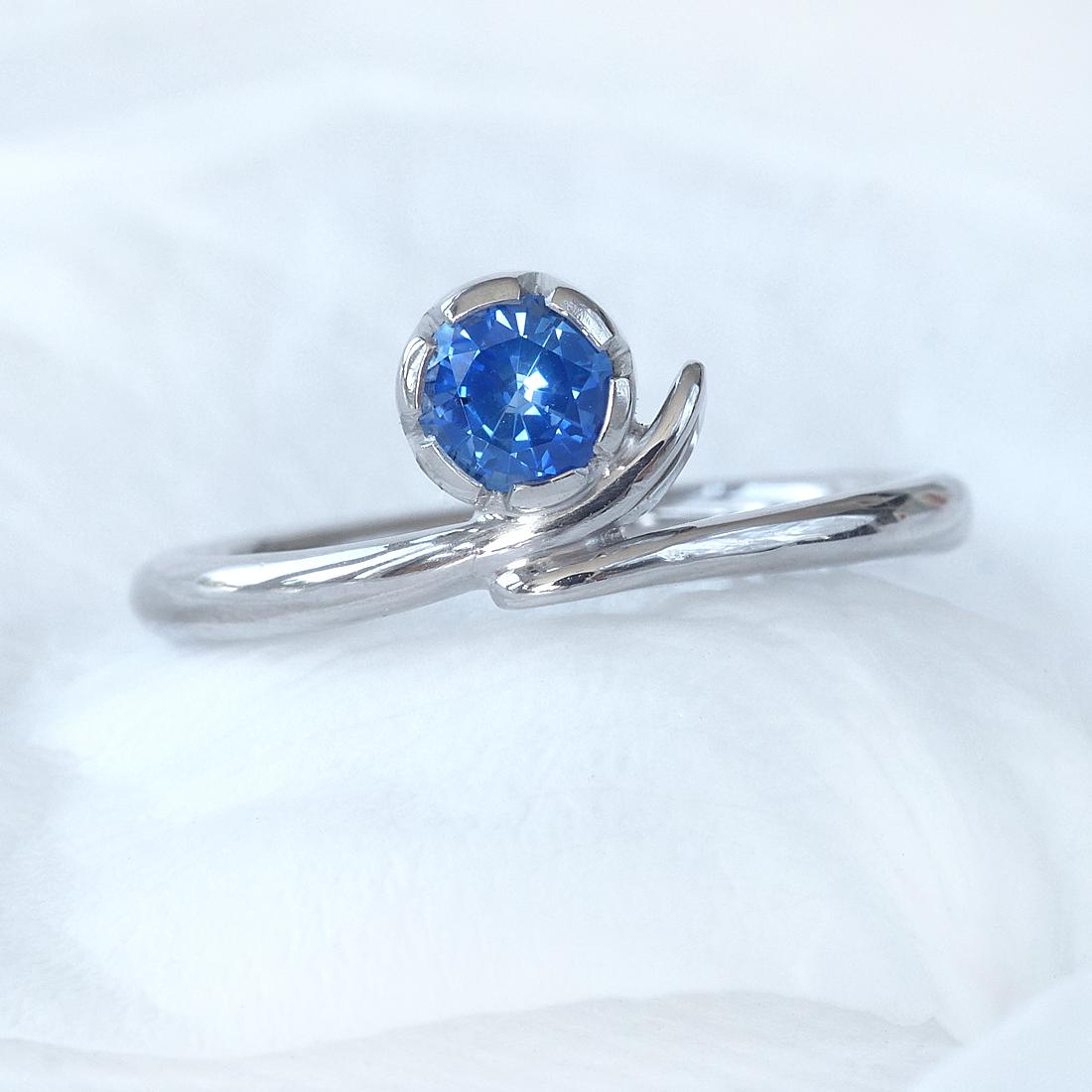 blue sapphire vine engagement ring gemstone engagement. Black Bedroom Furniture Sets. Home Design Ideas