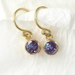 Alexandrite Earrings in 18ct Gold