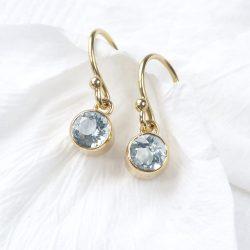 Aquamarine Earrings in 18ct Gold
