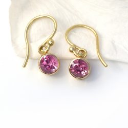 Tourmaline Earrings in 18ct Gold