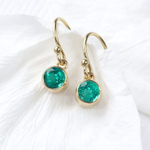 May Birthstone Earrings in 18ct Gold