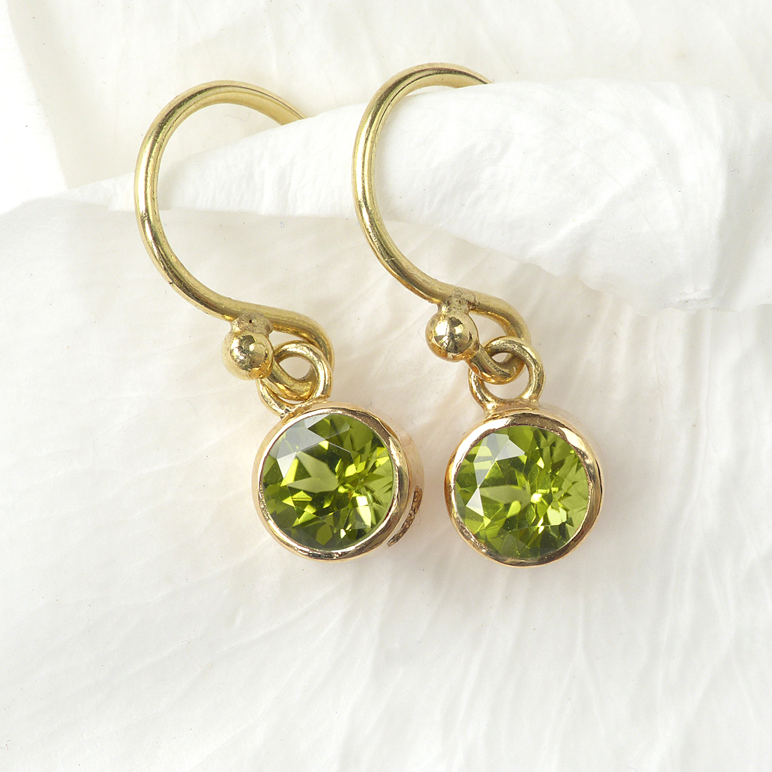Peridot Earrings in 18ct Gold