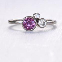 purple sapphire and diamond ring