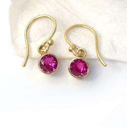 ruby earrings in 18ct gold