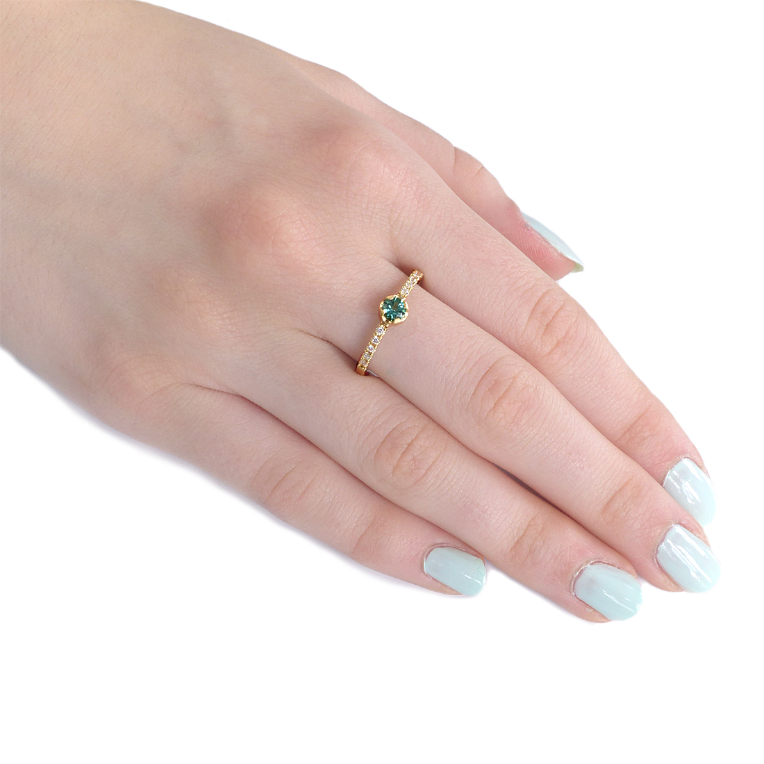 Fair Trade Tourmaline and Diamond Ring, Size N 3/4 | In Stock ...