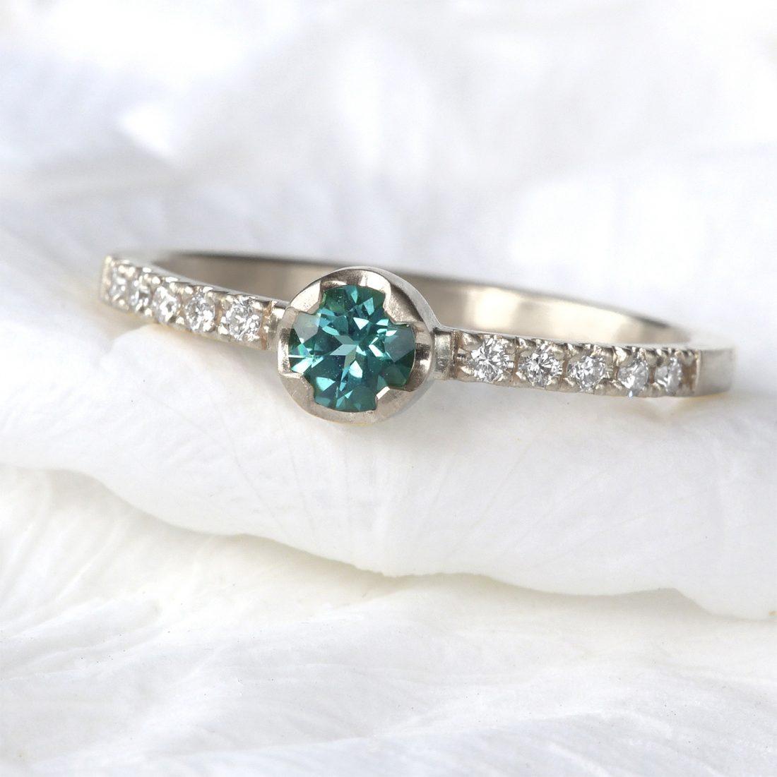 fair trade tourmaline diamond ring