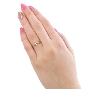 diamond stacking ring set