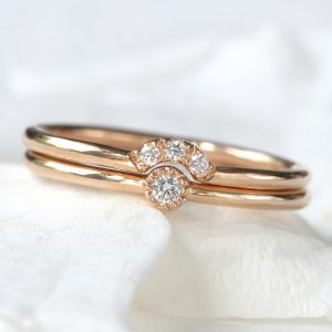 diamond stacking ring set