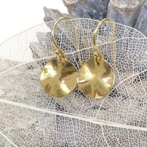 18ct gold disc earrings