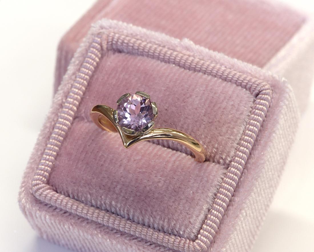 18ct Rose Gold Morganite & Sapphire Stacking Rings | Lilia Nash