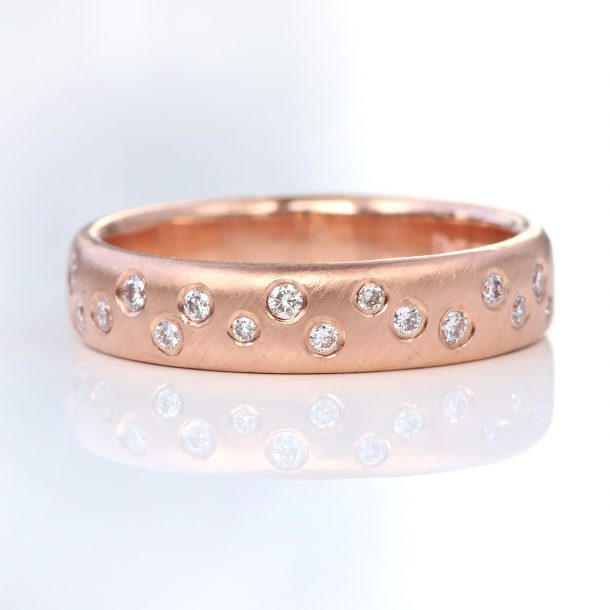 scattered diamond eternity ring