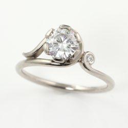 moissanite art nouveau ring