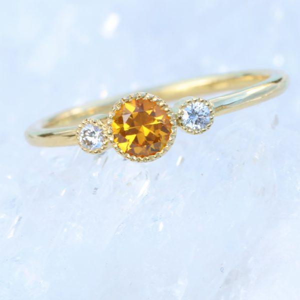 honey sapphire ring