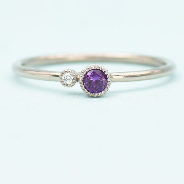 amethyst stacking ring february birthstone