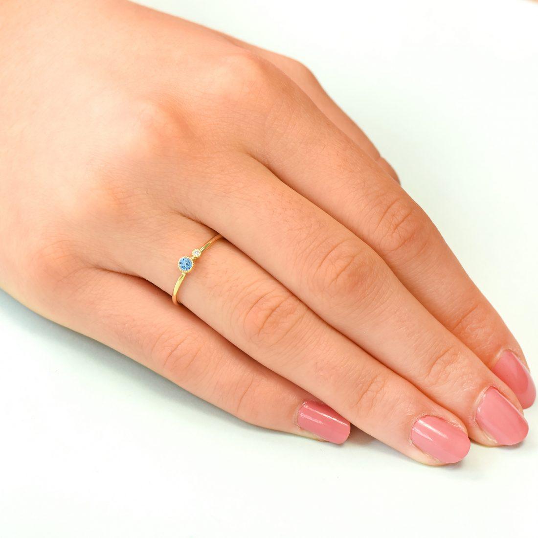 blue topaz stacking ring