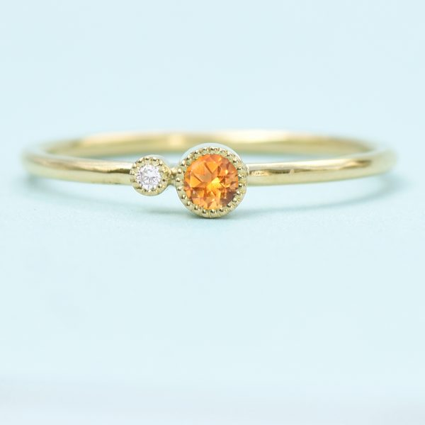 citrine birthstone stacking ring