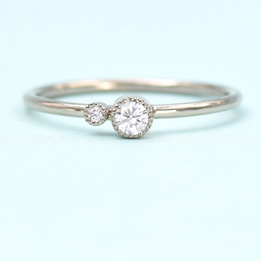 diamond birthstone stacking ring