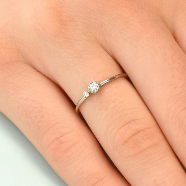 diamond birthstone stacking ring