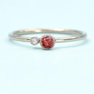 garnet birthstone stacking ring