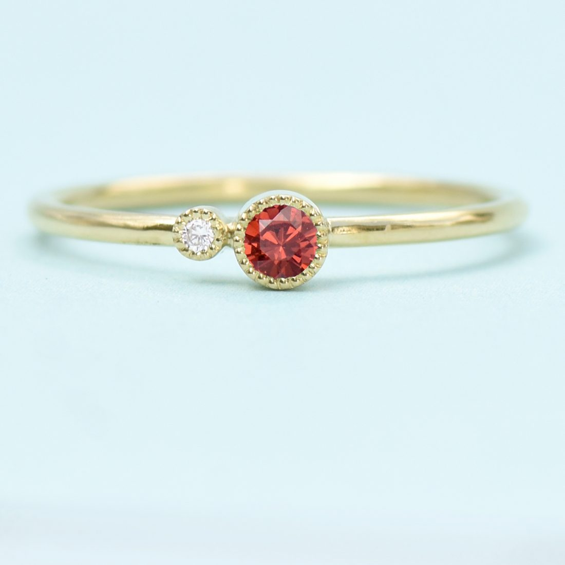 garnet birthstone stacking ring