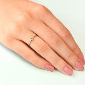 peridot birthstone stacking ring