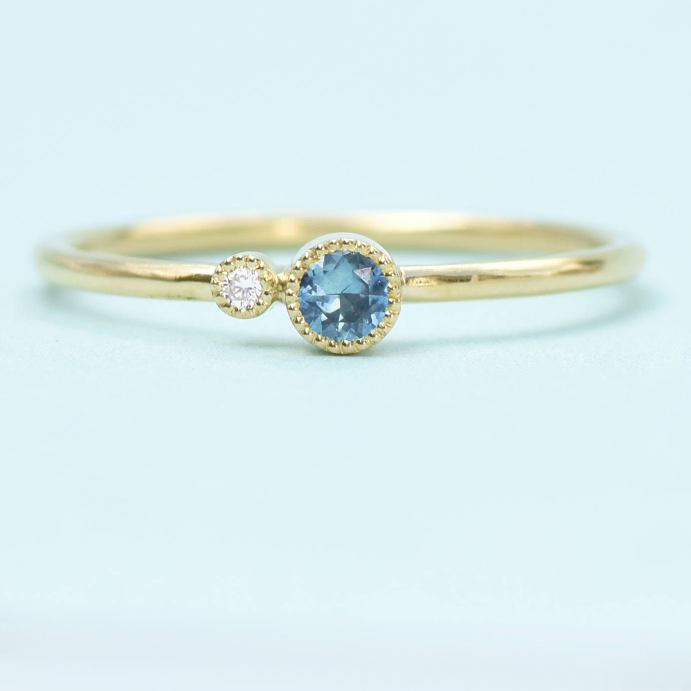 sapphire stacking ring